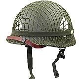 BLLJQ Casco De Acero M2 De La Segunda Guerra Mundial Equipo Militar Réplica Casco para Operaciones, Cuerda Rápida, Escalada, Formación, Paintball Y Caza