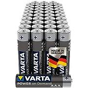 Varta Piles Alcalines Power On Demand Micro Aaa Haute Qualité Pack de 40
