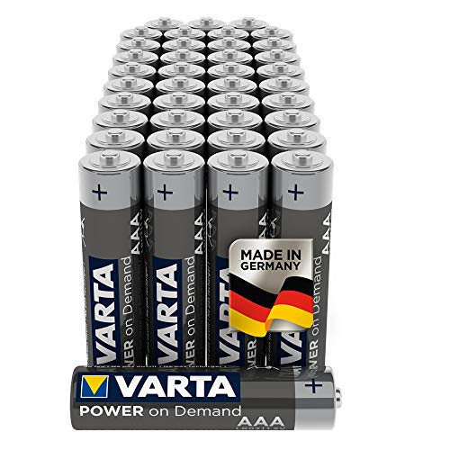 Batterie VARTA Power on Demand AAA Micro (adatte per accessori PC, dispositivi di domotica o torce) confezione da 40