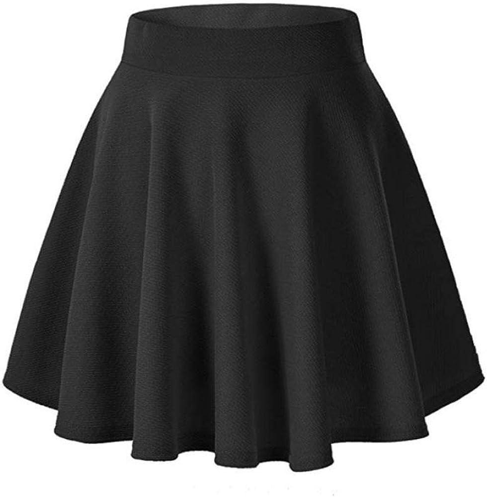 HUJINGLS Flared Casual Mini Sequin Skirt