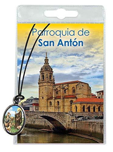 Ferrari & Arrighetti Medalla de San Antonio Abad con cordón y oración en español