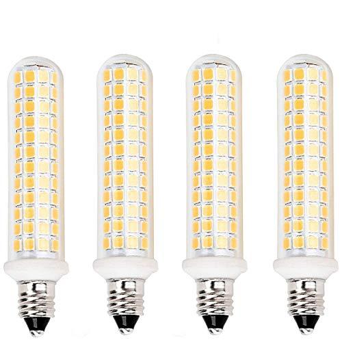 E11 Led Light Bulbs, 125 LEDs 100W 120W Halogen Bulbs Equivalent, JD E11 Mini Candelabra Base, Warm White 3000k,JD T3 T4 Bulb,AC 110V/130V(4 Packs)