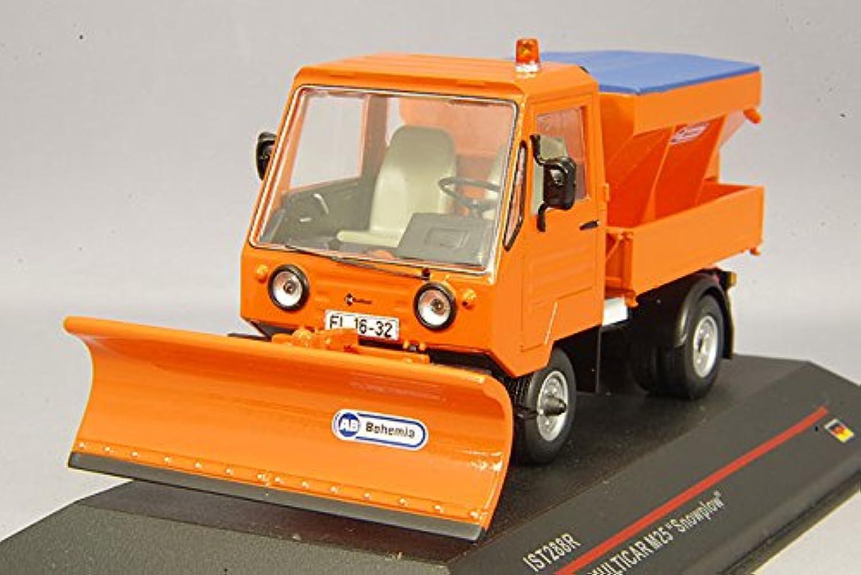 IST Models IST288R Multicar M25 Snowplow  1980  Scale  1 43, orange
