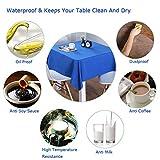 Chengtao Tischdecke Einweg, Tischdecke Plastik - 6er Pack, Garten Tischdecke Rechteckig Tischtuch Tischtuchtischdecke für draussen - 3