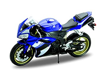 Welly Die Cast Motorcycle Blue Yamaha 2008 YZF-R1 1 18 Scale