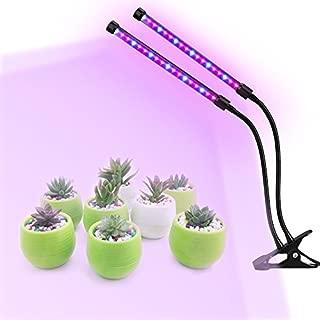 HJD Light LED Lighting 18W Plant Grow Light Lamp Plant Grow Lights Double-clip Adjustable& Energy-saving For Plants Growing
