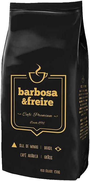 CAFÉ ARÁBICA BARBOSA E FREIRE - GRÃOS 250G