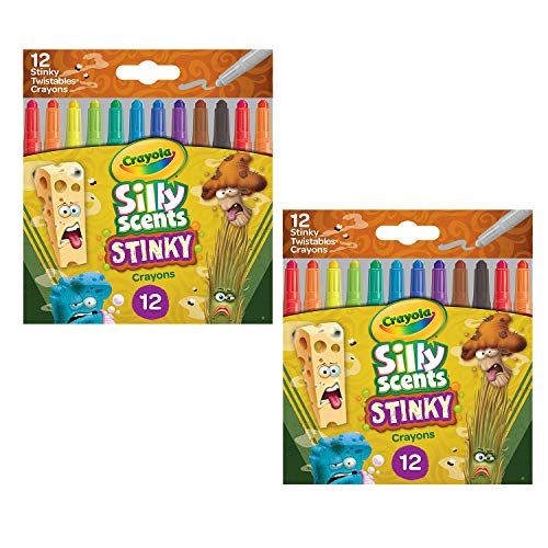 Crayola Silly Scents Mini Twistables Stinky, 12 Count (2 Pack)