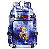 ZZGOO-LL Dragon Ball Super Son Goku/Vegeta IV/Torankusu Mochila con para Mujer, Mochila de Viaje Suave, Mochila para Escuela, Notebook, Mochilas para niñas con USB-E