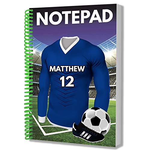 Personalisiertes Geschenk – Fußball-Trikot – A5 Notizblock – Notizbuch – Geburtstag – Weihnachten – Strumpffüller – Secret Santa – Name und Nummer hinzufügen Portsmouth