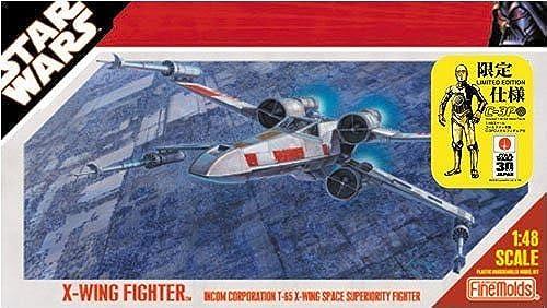 1 48 STAR WARS X-Wing Fighter (verGoldete C-3PO gemacht mit Metallfigur)