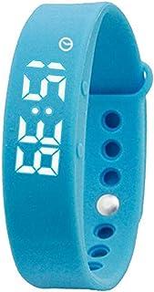 Women's Red Slim Smart Watch, 3D Pedometer Intelligent Silicone Sports Sleep Monitor for Kids Men