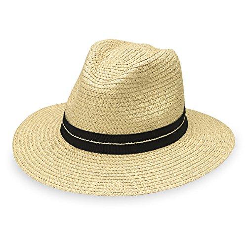 Wallaroo Hat Company Men's Blake Fedora – UPF 30+, Adjustable, Designed in Australia, Ivory, Large/Extra Large