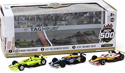 2019 Indy 500 3-Car Podium set by Greenlight