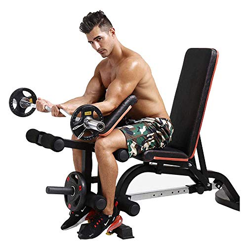 ZLMI Home Gym Adjustable Weight Bench Foldable Workout Bench Chair Adjustable Sit Up Abs Bench Flat Workout Bench Weight Press Fitness Exercises