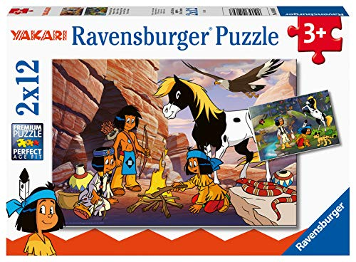 Ravensburger Kinderpuzzle 05069 - Unterwegs mit Yakari - 2 x 12 Teile