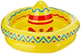 Beistle Inflatable Sombrero Cooler Party Accessory 18-Inch by 12-Inch (1 count), Multicolor, One Size
