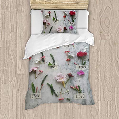 Juego de ropa de cama para niña, funda de almohada de 50 x 80 cm, funda nórdica de 135 x 200 cm, 125% algodón