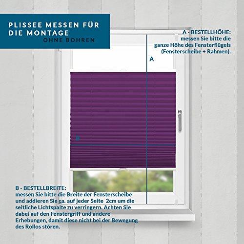 Plissee Violett HOME-VISION - 9