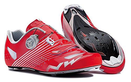Northwave Torpedo plus de carreras de bicicleta de zapatos de colour rojo/blanco 2015, color , tamaño 42