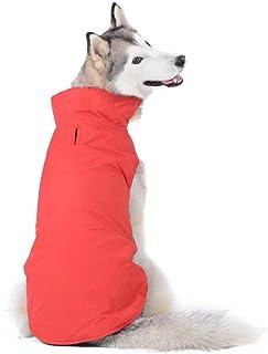 Bwiv Abrigos para Perros de Invierno Chaqueta Impermeable