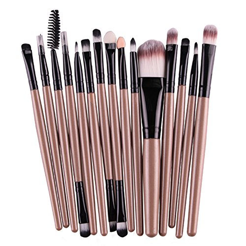 Oshide 15 Stück Professionelle Makeup Bürsten Kosmetik Set Foundation Powder Lidschatten...