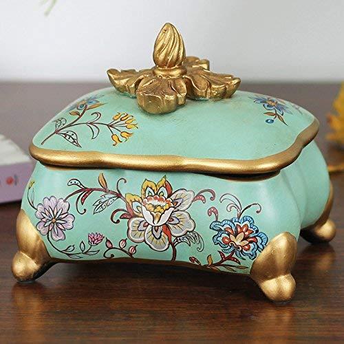 Keramik Schmuckschatulle Handwerk Hibiskus Tonerkartusche Kartusche dekorative Heimtextilien sind in der Box enthalten