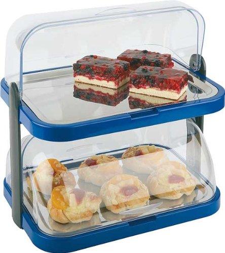 Getgastro–Espositore refrigerato doppio, per buffet in blu 8pz, comprese mattonelle Made in Germany