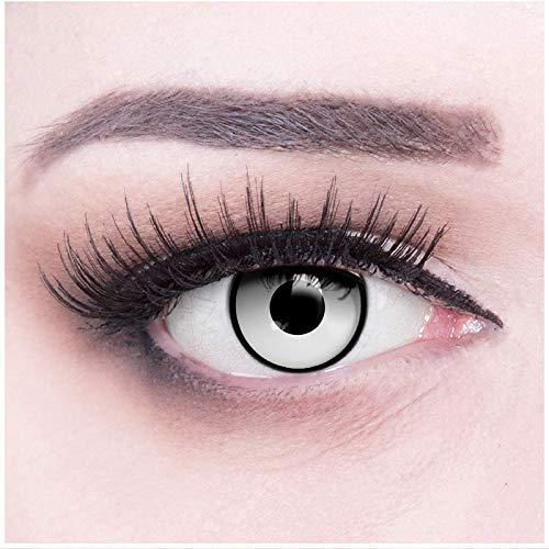 Farbige schwarzer Rand Crazy Fun gaara Jahres Kontaktlinsen. Perfekt zu Halloween, Karneval, Fasching oder Fasnacht Cosplay mit gratis Kontaktlinsenbehälter.