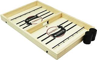 【M's194】 スリングホッケー 木製 卓上 簡単ルール ボードゲーム テーブルゲーム プレゼント