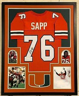Warren Sapp Autographed Signed Custom Framed Miami Hurricanes Jersey JSA Witnessed COA