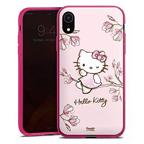 DeinDesign Silikon Hülle Hülle Schutzhülle für Apple iPhone Xr Hello Kitty Merchandise Fanartikel Magnolia