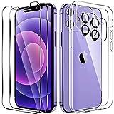 LK Compatibile con iPhone 12 Mini Custodia Cover, 2 Pezzi Pellicola Protettiva in Vetro...