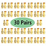 30 Pairs Mirthobby 3.5mm Male Female Gold Plated Banana Plug Bullet Connector ESC Plugs for RC Battery ESC Motor Wire DIY Helicopter