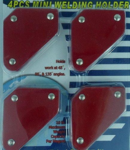 (4) Mini Tack Welding Welder Magnets Magnet Arrow Soldering Arc Mig Tig 15lb New