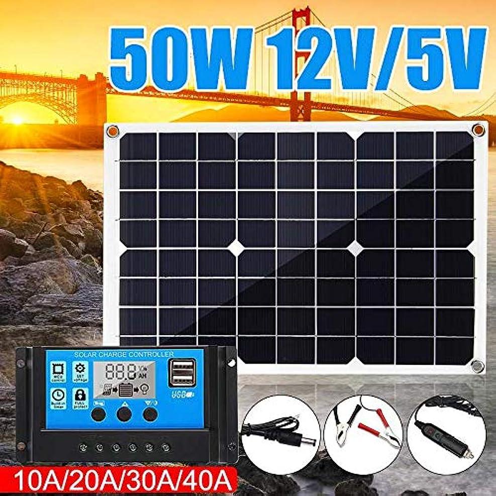 買い手ブラケット庭園エクスプローラ発電所、自動車、自動車キャンプ、船、用USB出力付き折り畳み式の太陽電池ソーラー充電器のための50Wポータブルソーラーパネル