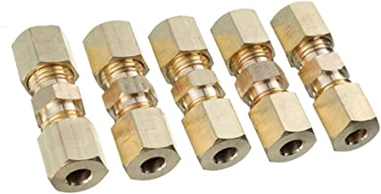 MIFASA 5 STKS 3/16IN Messing Compressies Fittings Connector Corrosiebestendig Duurzaam Rempijp Connector