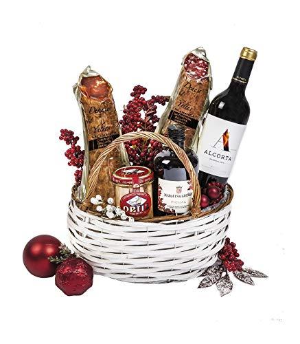 Cesta Selección Gourmet con Vino Tinto D.O. Rioja Viña Alcorta Reserva
