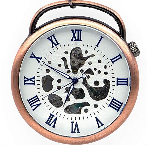 CMHC De aleación de Rose Retro Steampunk Bobina de la Mano de la Cadena Relojes de Bolsillo mecánico Pendiente del Reloj for los Hombres de Las Mujeres