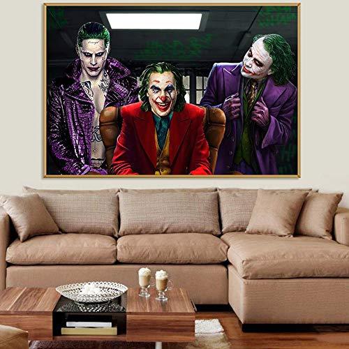 Villano fumando Payaso póster de película Arte de la Pared Lienzo huahua Phoenix Impresiones y póster Imagen cómica Pintura Decorativa Pintura sin Marco 40x60cm