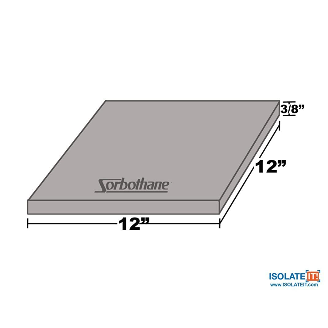Sorbothane Vibration Damping Sheet Stock (70 Duro, 3/8 x 12 x 12in)