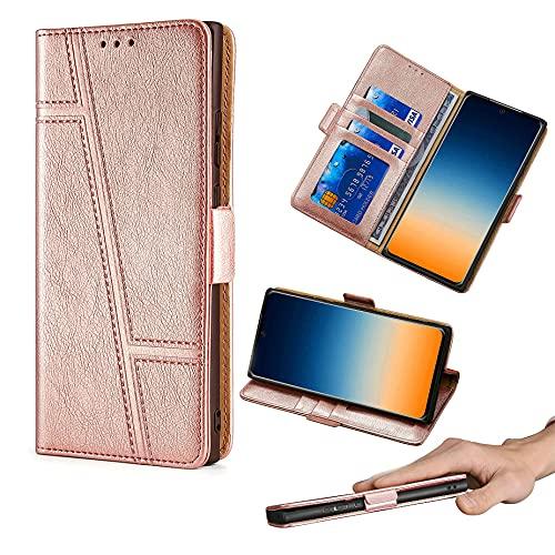 HUAYIJIE GKLTCK Flip Funda para ASUS Rog Phone 2 Funda Carcasa Case Cover [Oro Rosa]