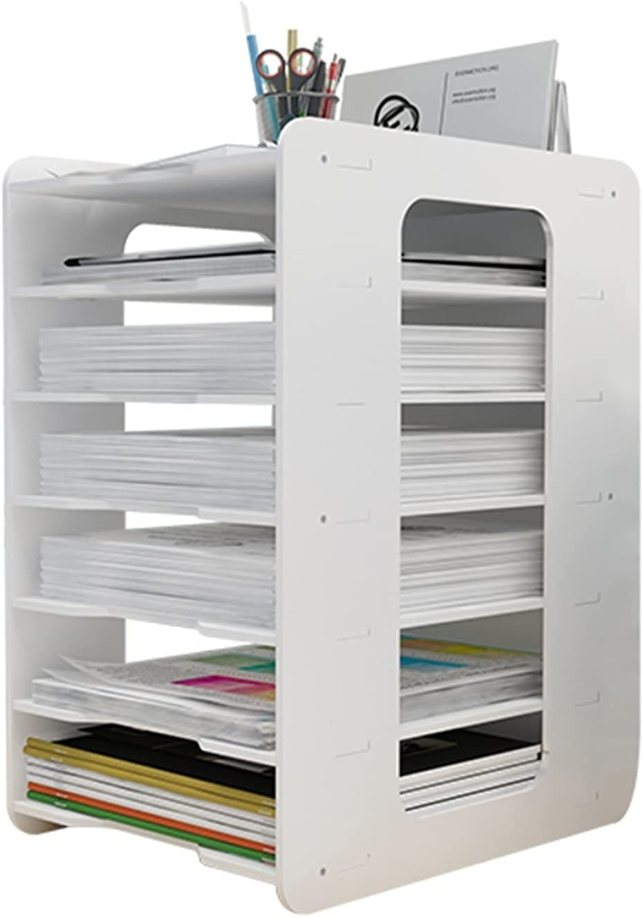 MZQ Multifunctional White Super popular specialty store Vertical Paper Holder Max 77% OFF Org File