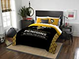 NHL Pittsburgh Penguins Full Comforter and Sham Set, Full/Queen
