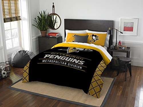 NHL Pittsburgh Penguins Twin Comforter and Sham Set, Twin