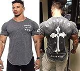 ZHUIABA - Camiseta de manga corta de algodón para hombre, diseño de calavera, estilo informal, para fitness, culturismo, entrenamiento, camisetas para hombre, color C6., tamaño xx-large