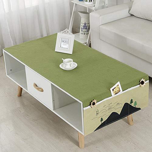 QAQ Couchtisch Tuch Nordic couchtisch tischdecke Garten grün einfach Wohnzimmer rechteckig Tisch couchtisch Matte tischdecke, Landscape_70 * 180cm