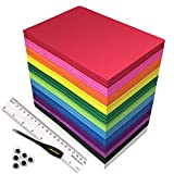 84PACK Foam Craft Sheets 9x5.6 inch Eva Color Foam Paper Set for Kids Classroom Art Craft Projects DIY Handcraft by MEARCOOH