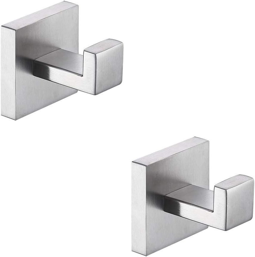 TASTOS Bath Towel Hooks Brushed Nickel R Stainless Purchase service 2 Pack Steel