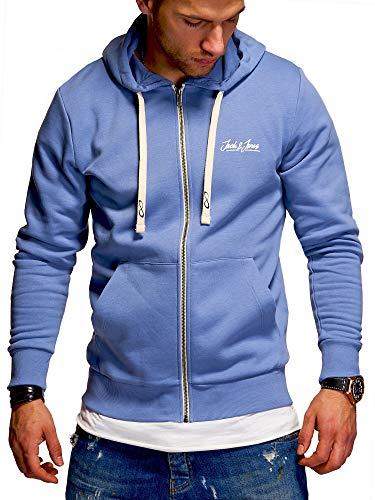 JACK & JONES Herren Sweatjacke Hoodie Kapuzenjacke Sweatshirt Kapuzenpullover (X-Large, Infinity)
